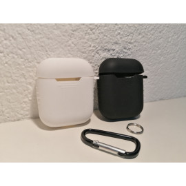 airpod cover rubber black and white and pink colour