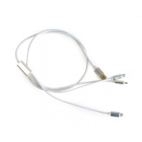 3 in 1 lightning cable white Type-C