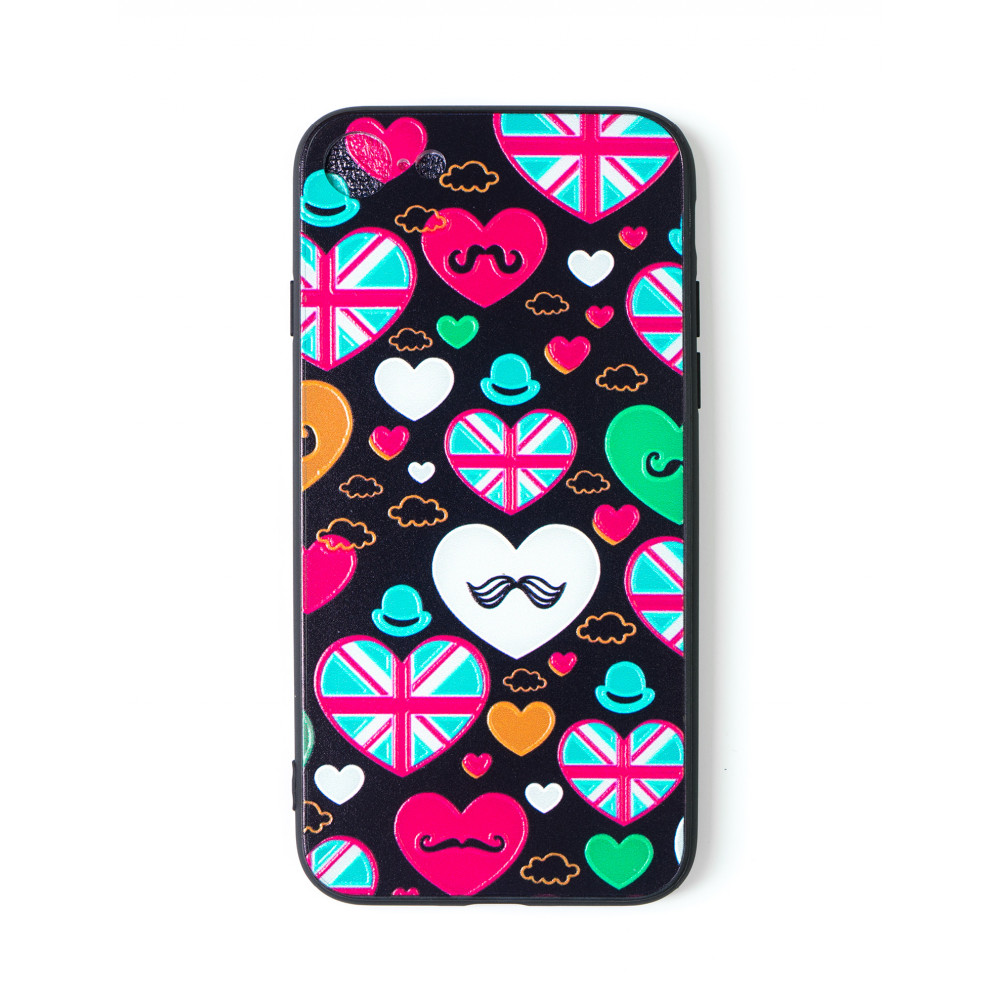 iPhone 7 design cover with hearts