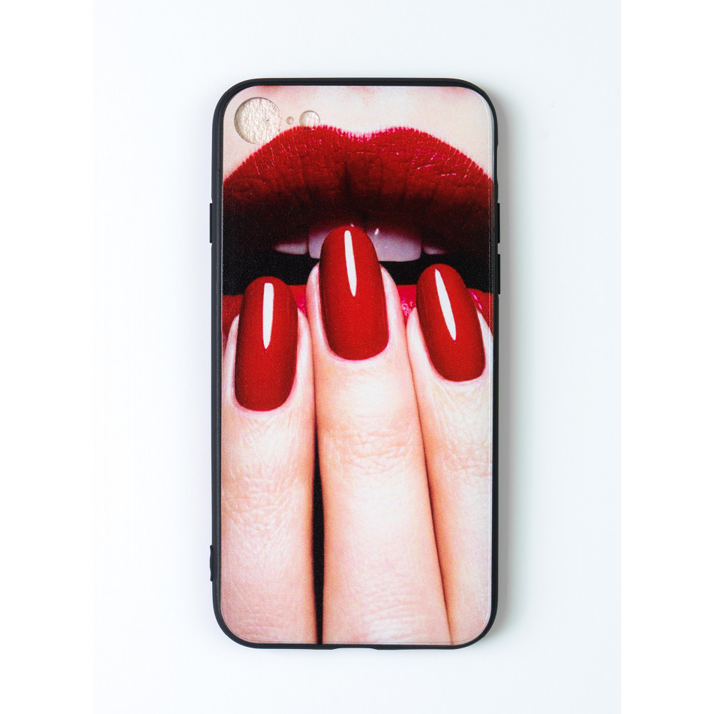 iPhone 7 design cover with nails and lips